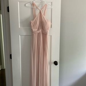 Blush Bridesmaid Dress (floor length)